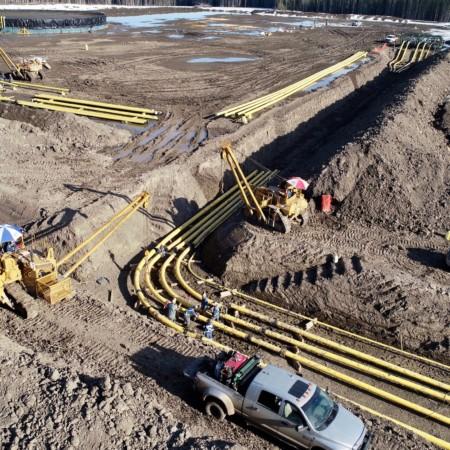 Kelt - Inga Lake Pipeline Construction
